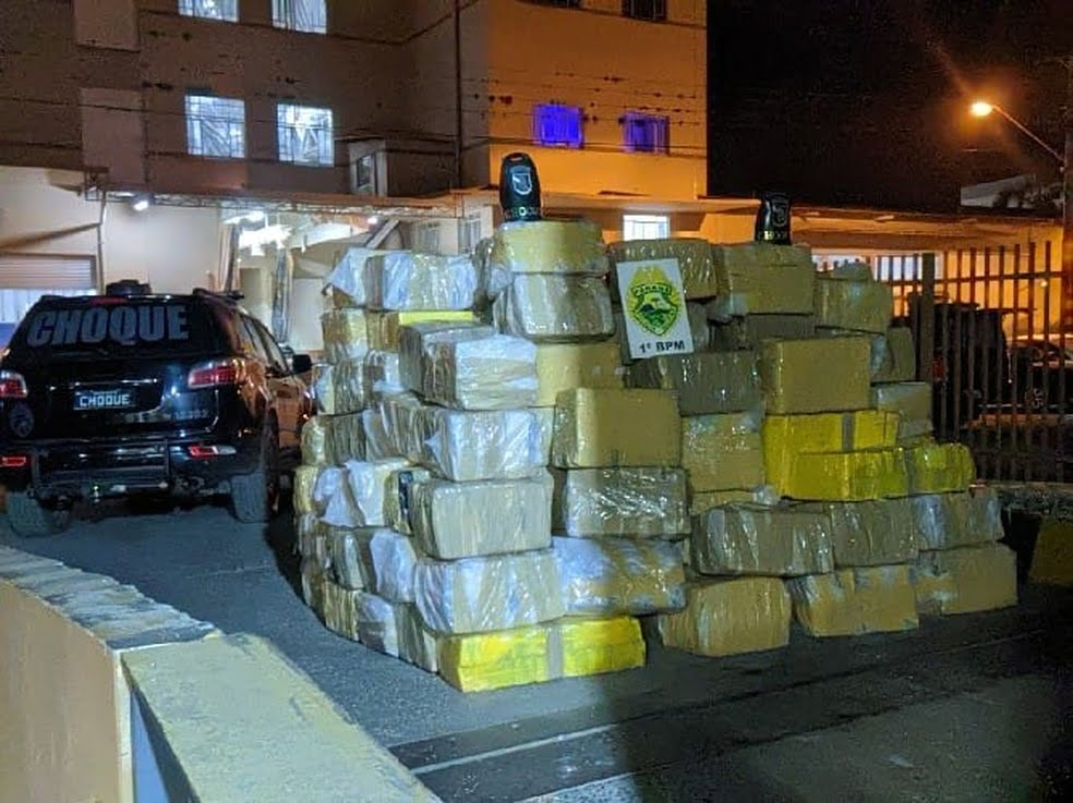 3,6 toneladas de maconha foram apreendidas pela PM. Foto: Divulgação Polícia Militar