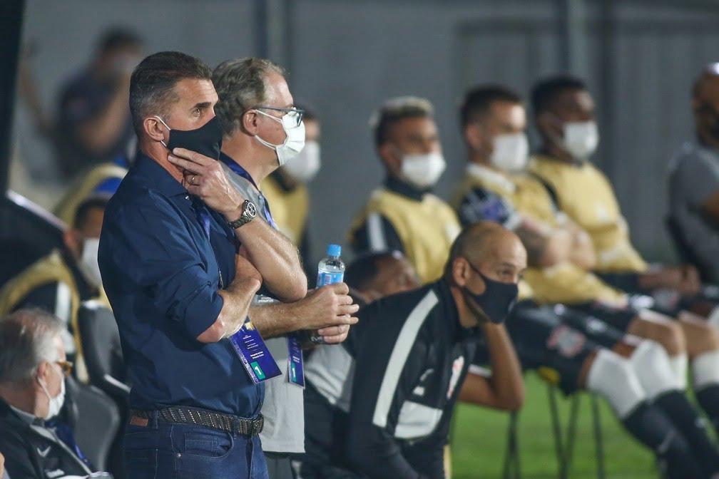 Torcida do Timão pede a saída de Vagner Mancini. Foto: Staff Images/Conmebol