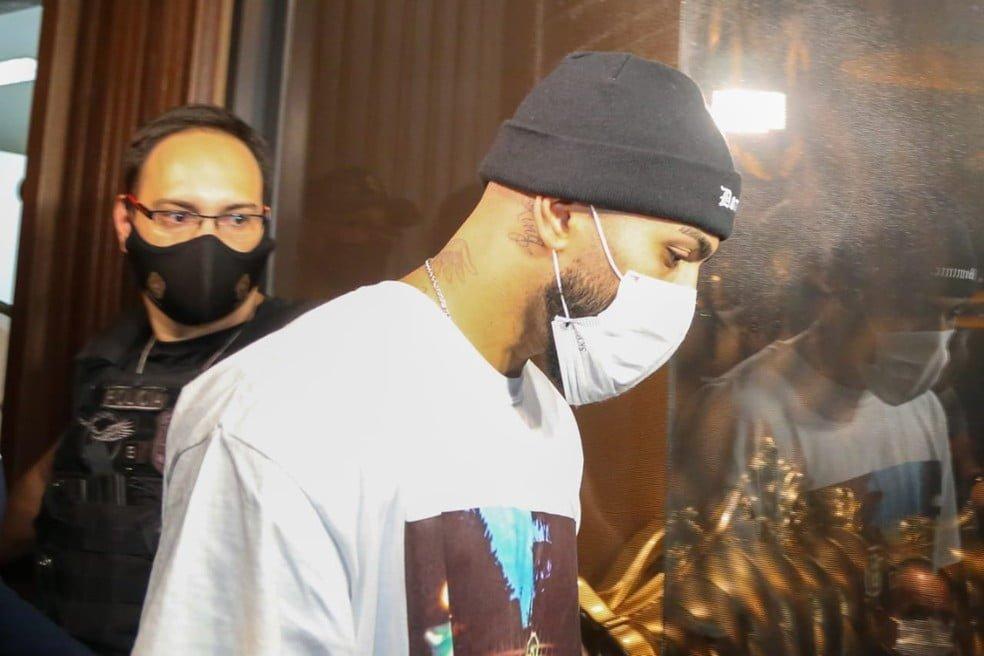Gabigol, foi detido em aglomeração dentro de cassino clandestino em São Paulo — Foto: Divulgação/Polícia Civil
