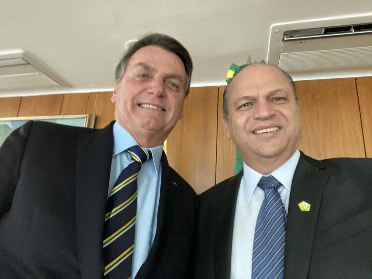 Ricardo Barros e o presidente Jair Bolsonaro - Foto: Divulgação / Arquivo